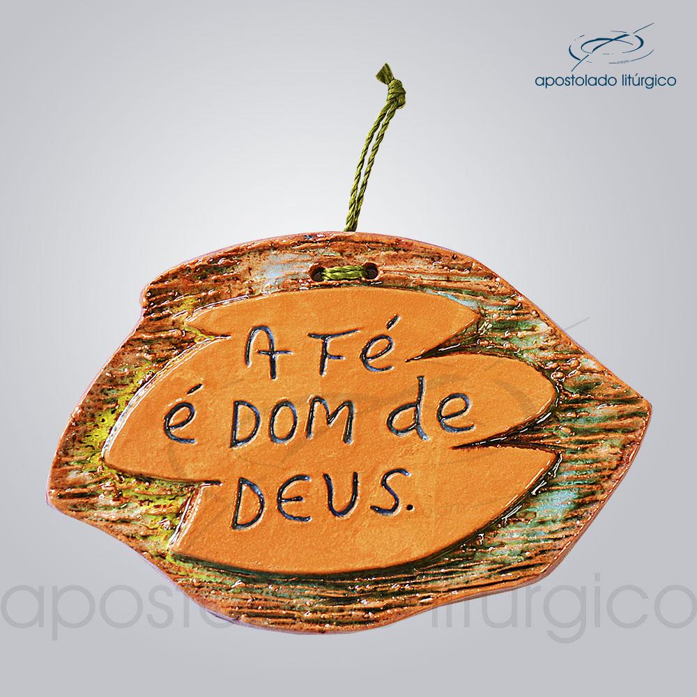 Quadro de Ceramica A Fe e dom de Deus 8x12cm 30009 | Apostolado Litúrgico Brasil