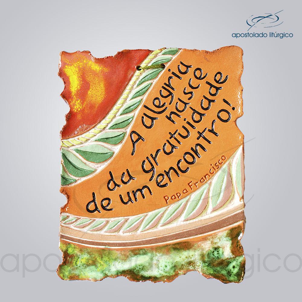 Quadro de Ceramica Alegria Nasce 12x15cm 2261 | Apostolado Litúrgico Brasil