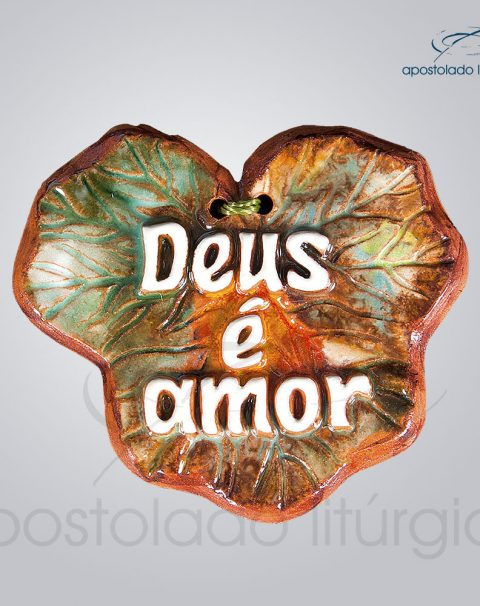Quadro de Ceramica Deus e Amor 8x8cm – COD 2118