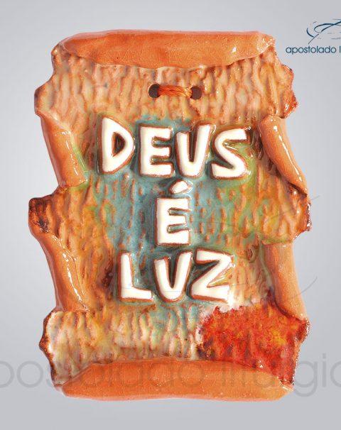 Quadro de Ceramica Deus e Luz Pergaminho 9x7cm – COD 2152