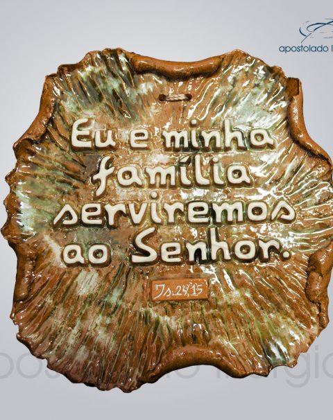 Quadro de Ceramica Eu e Minha Familia 15x17cm – COD 2054