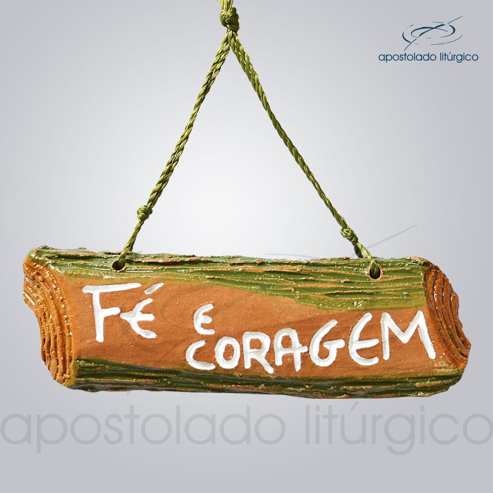 Quadro de Ceramica Fe e Coragem COD 2257 | Apostolado Litúrgico Brasil