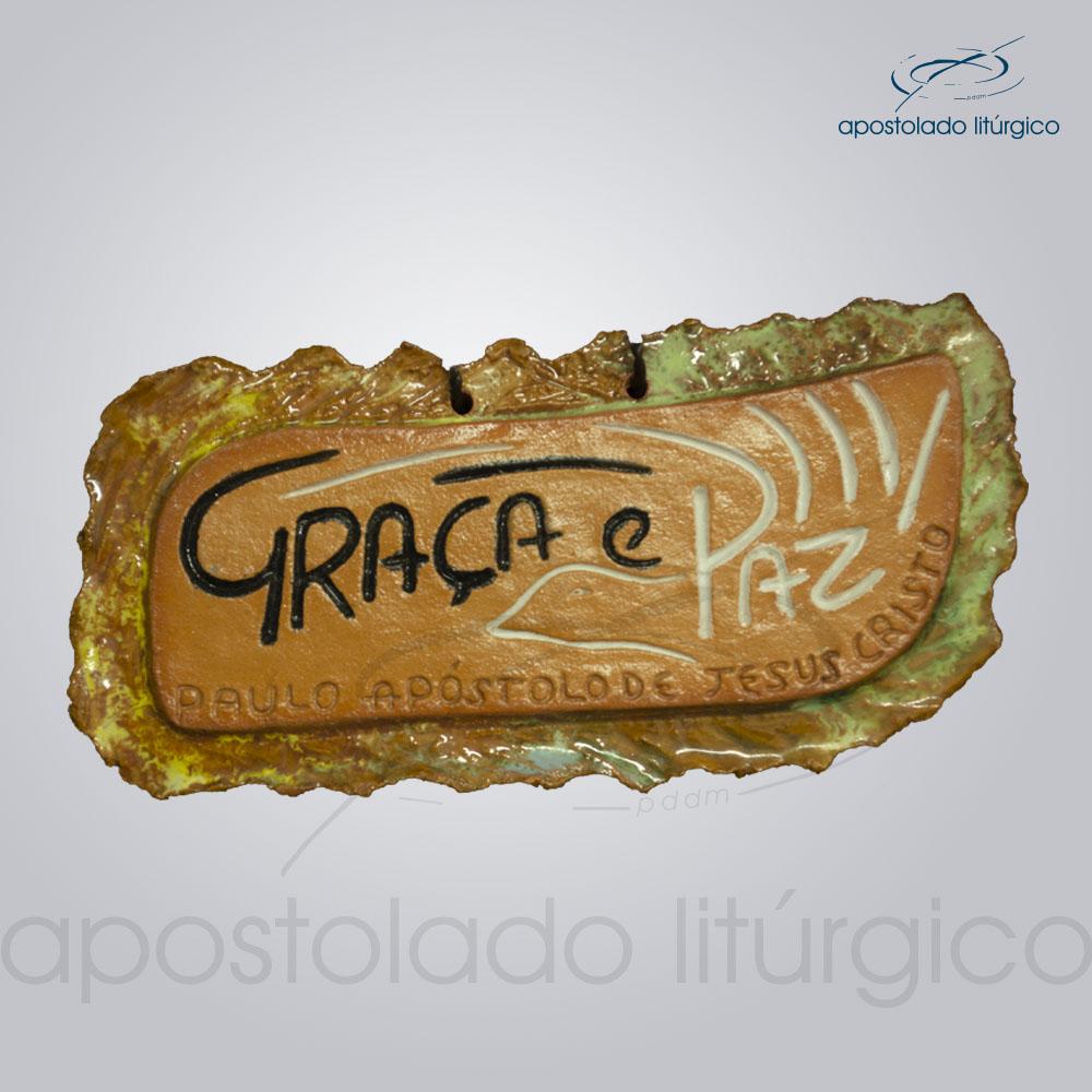 Quadro de Ceramica Graca e Paz 2263 | Apostolado Litúrgico Brasil