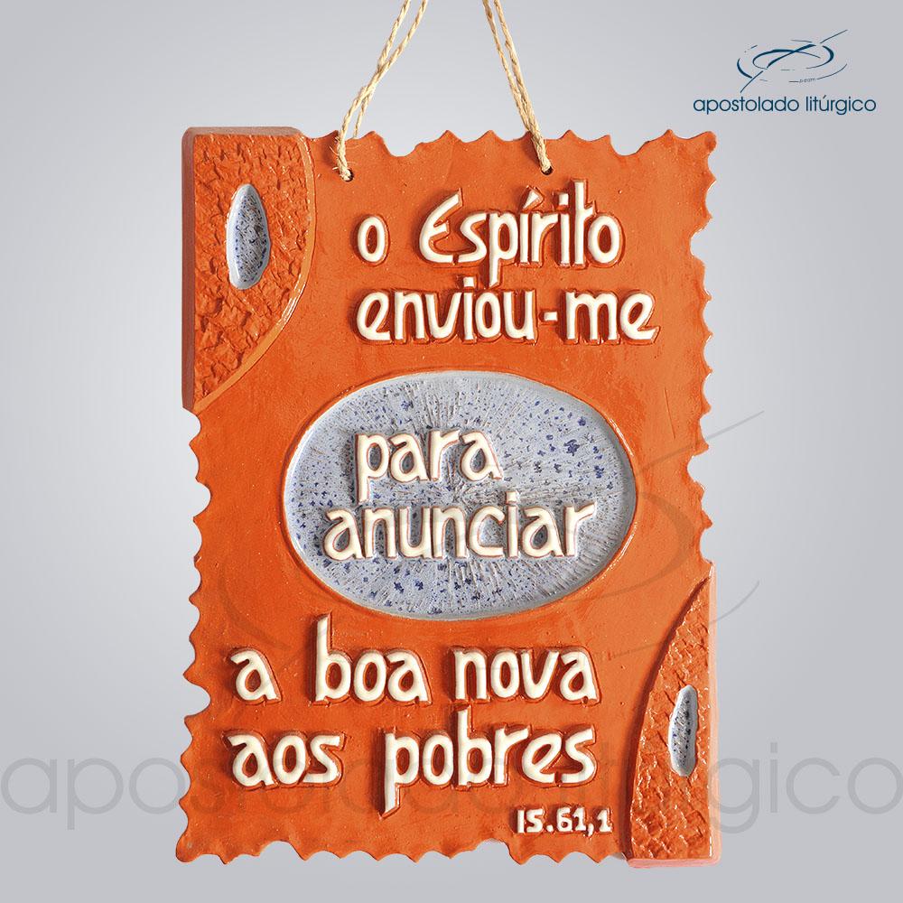 Quadro de Ceramica O Espirito Enviou me 30x20cm COD 2074 | Apostolado Litúrgico Brasil