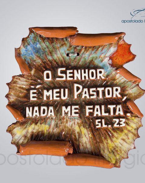 Quadro de Ceramica O Senhor e Meu Pastor 17x17cm – COD 2158