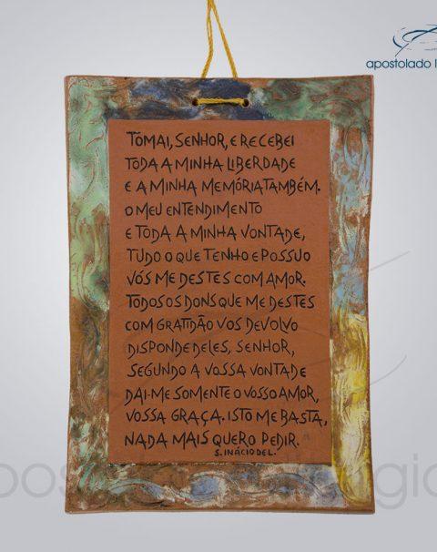 Quadro de Ceramica Oracao de Santo Inacio COD 2279