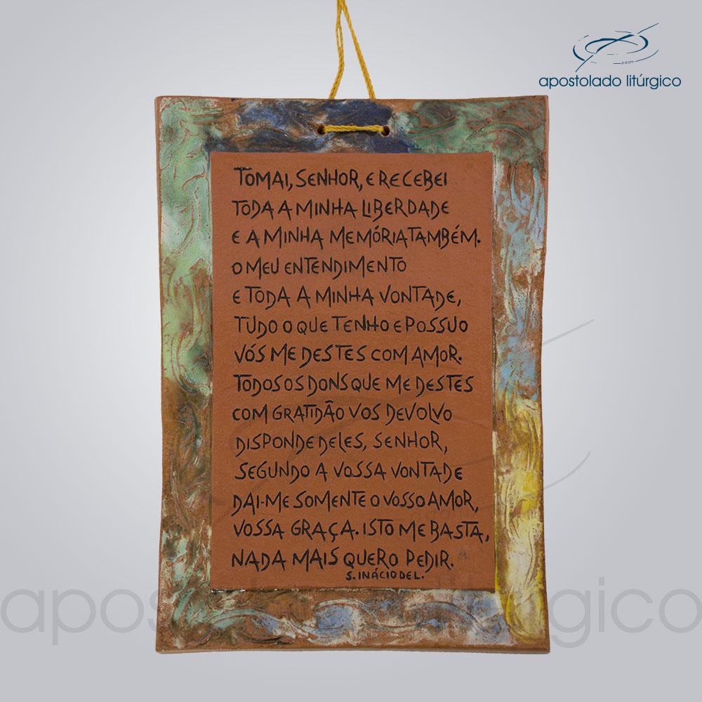 Quadro de Ceramica Oracao de Santo Inacio COD 2279 | Apostolado Litúrgico Brasil