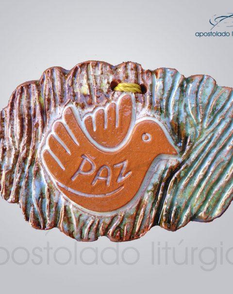 Quadro de Ceramica Paz Pomba 7x9cm-39002