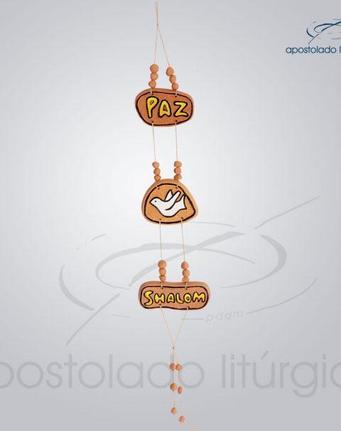 Quadro de Ceramica Paz Pomba Shalom M2 60 cm-2057