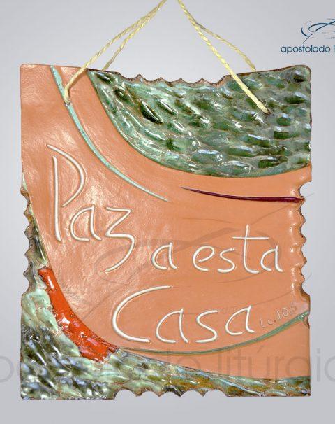 Quadro de Ceramica Paz a Esta Casa M2 23x20cm – COD 2061