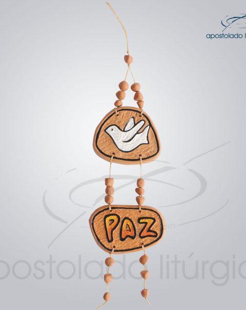 Quadro de Ceramica Pomba Paz 30 cm-2231LARANJA