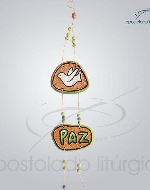 Quadro de Ceramica Pomba Paz 30 cm-2231VERDE