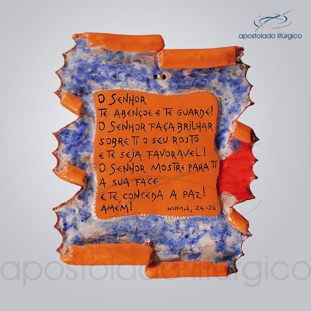 Quadro de Ceramica Prece da Paz P2 18x17cm COD 2119 | Apostolado Litúrgico Brasil