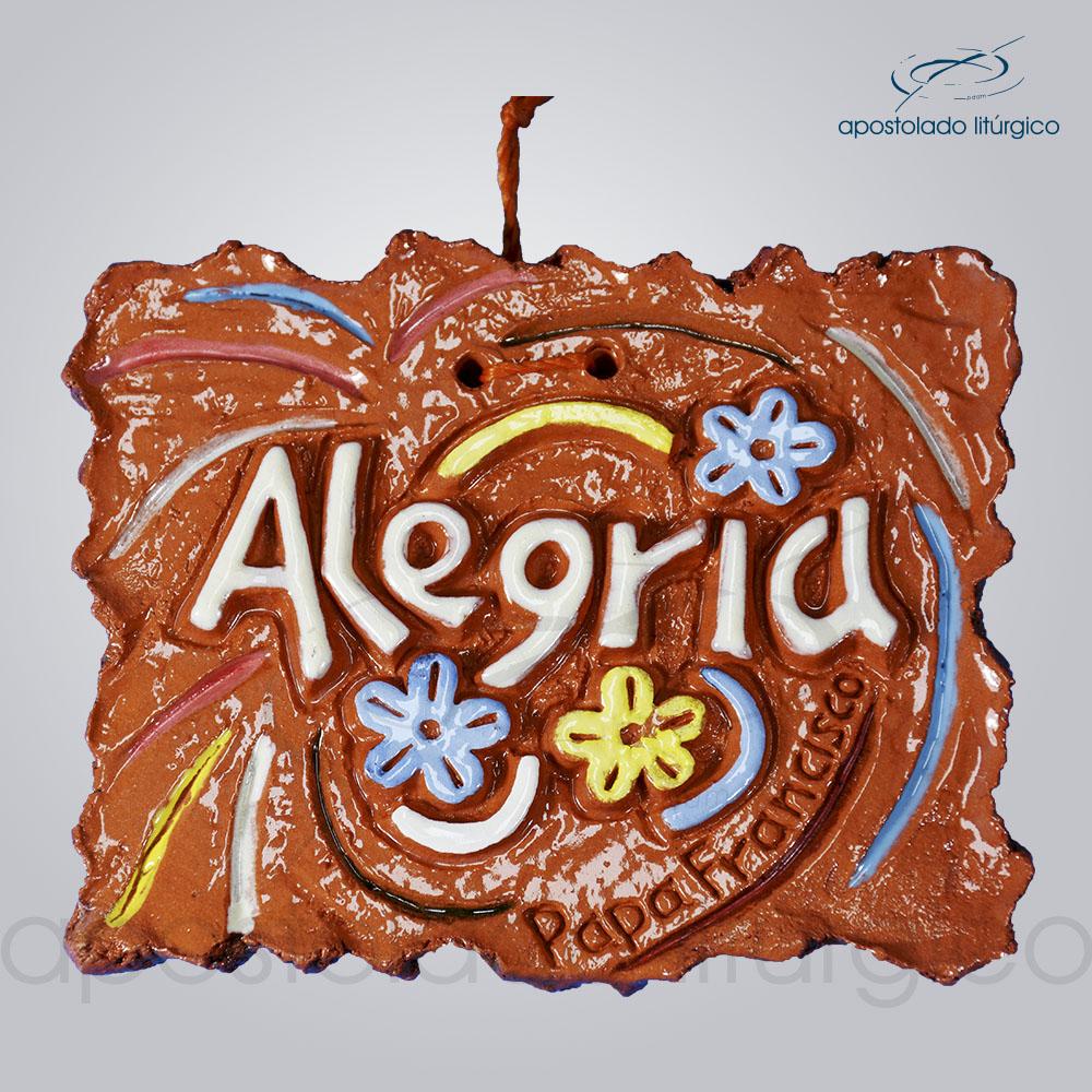 Quadro de ceramica Alegria 8x10 cm 2260 | Apostolado Litúrgico Brasil