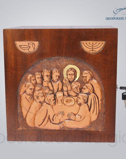 Sacrario Ceia Simbolo Betumado 32x32x28cm Frente – COD 4072