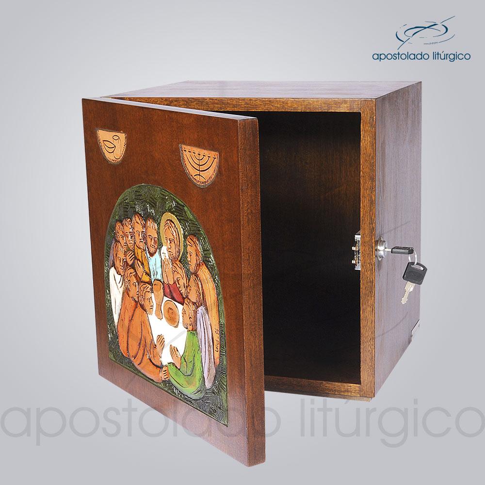 Sacrario Ceia Simbolo Colorido 32x32x28cm Aberto COD 4091 | Apostolado Litúrgico Brasil