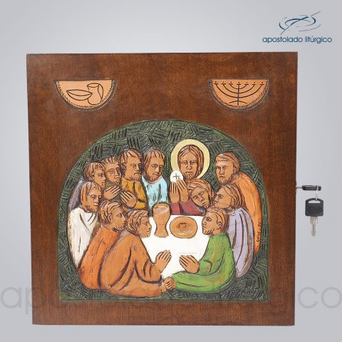 Sacrario Ceia Simbolo Colorido 32x32x28cm Frente – COD 4091