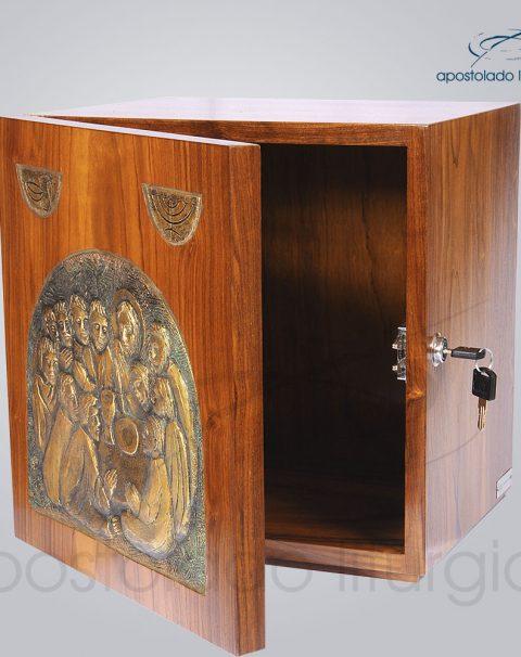 Sacrario Ceia com simbolo metalizado 32x32x28 cm frente aberto – cod 4038