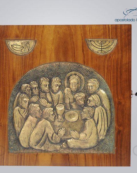 Sacrario Ceia com simbolo metalizado 32x32x28 cm frente – cod 4038