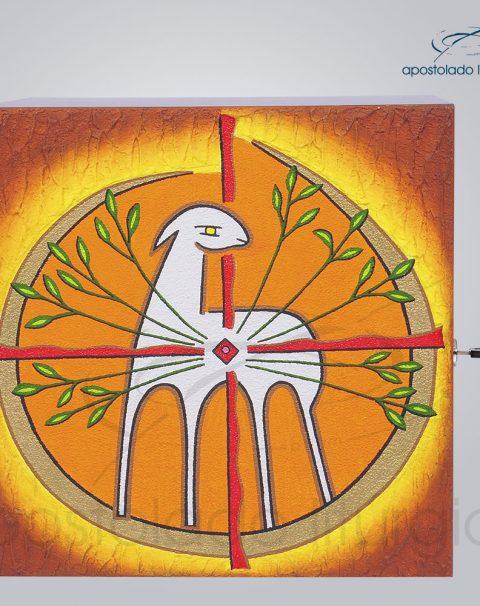 Sacrario Cordeiro Arvore da Vida Pequeno 22x22x20cm Frente – COD 4026