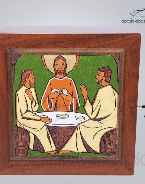 Sacrario Emaus Cruz Laterais Medio 38x38x32cm Frente – COD 4037