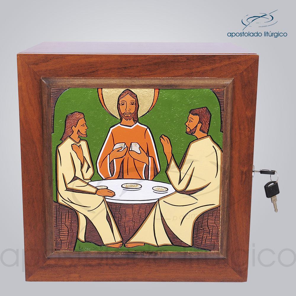 Sacrario Emaus Cruz Laterais Medio 38x38x32cm Frente COD 4037 | Apostolado Litúrgico Brasil