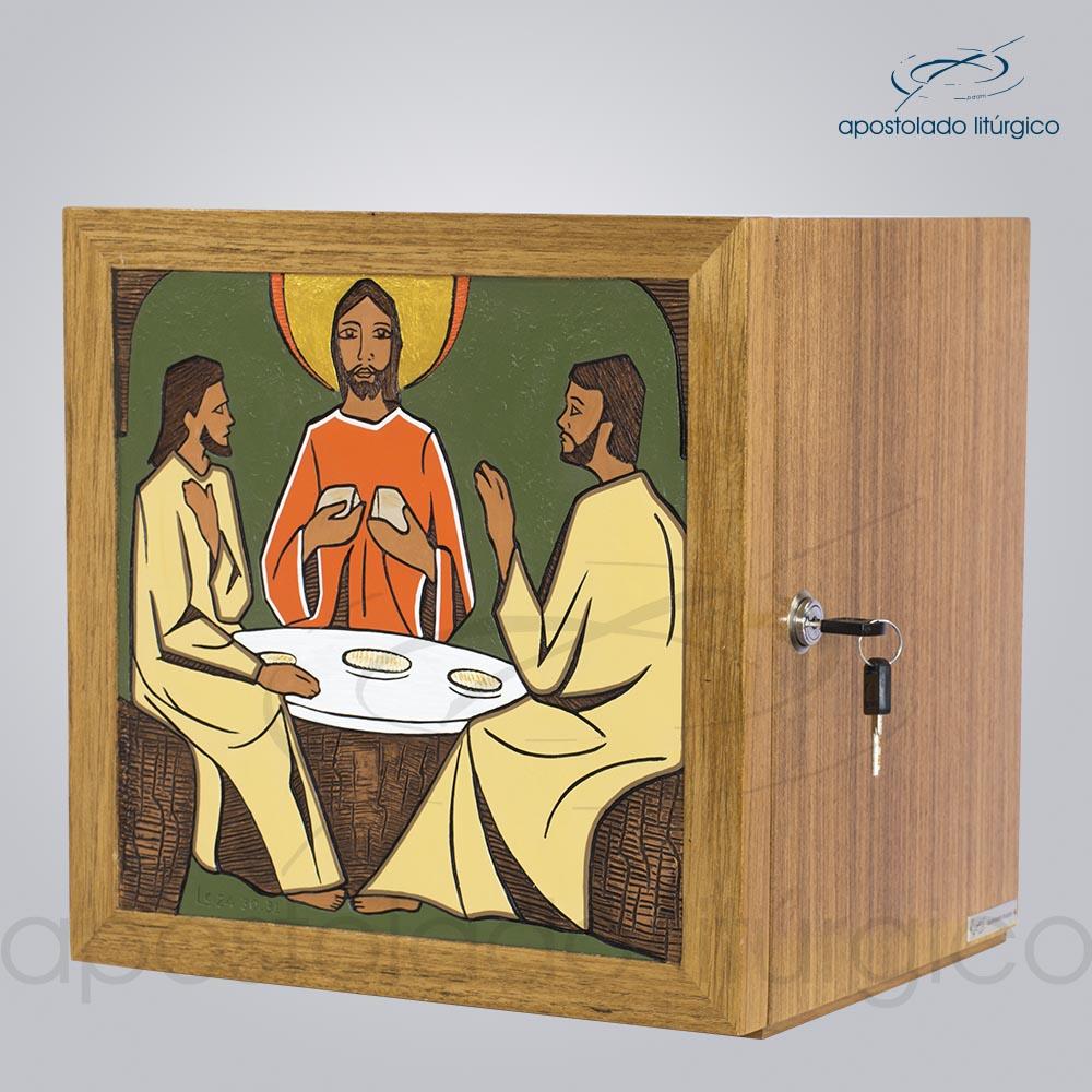 Sacrario Emaus Mesa Medio 32x32x28cm Frente Lateral COD 4057 | Apostolado Litúrgico Brasil