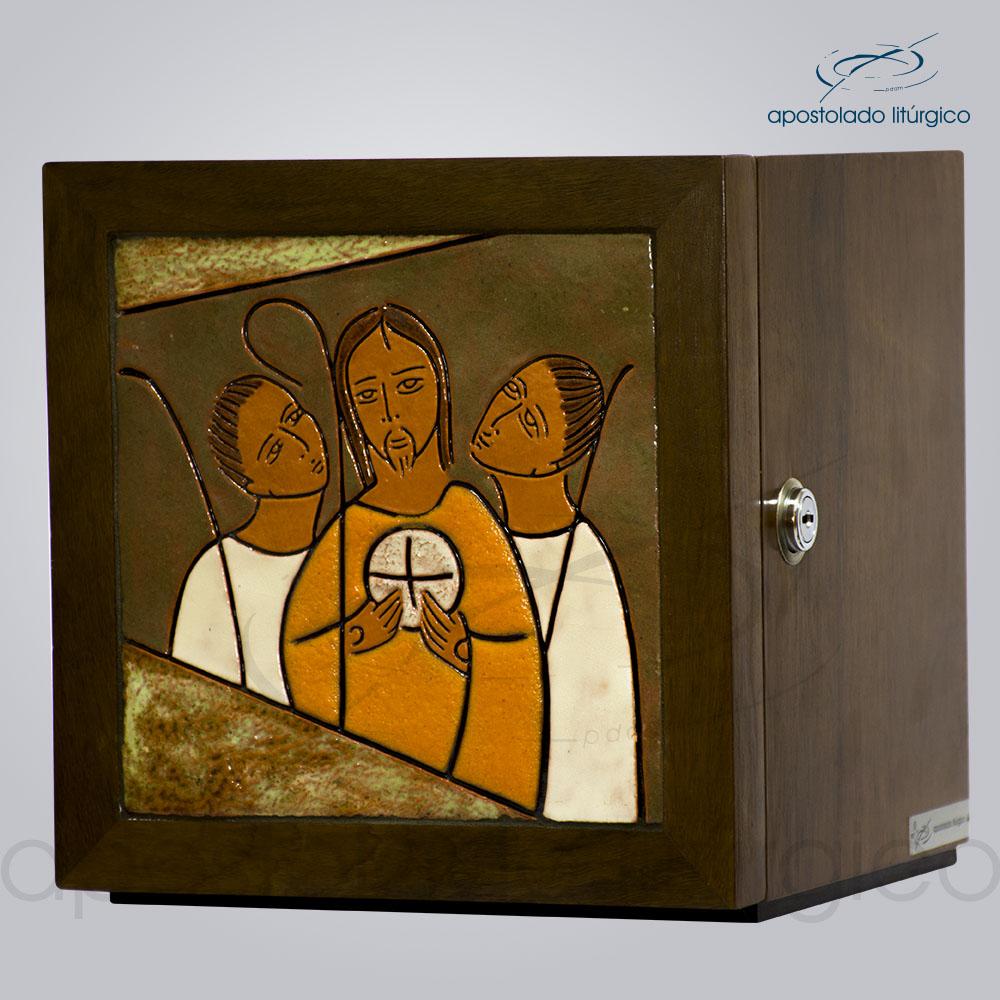Sacrario Emaus Vidrado 22x22x22 COD 4081 | Apostolado Litúrgico Brasil
