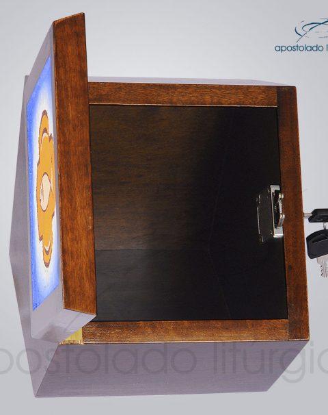 Sacrario Hexagonal 18x18x14x17x18 5cm Frente Aberta – COD 4298