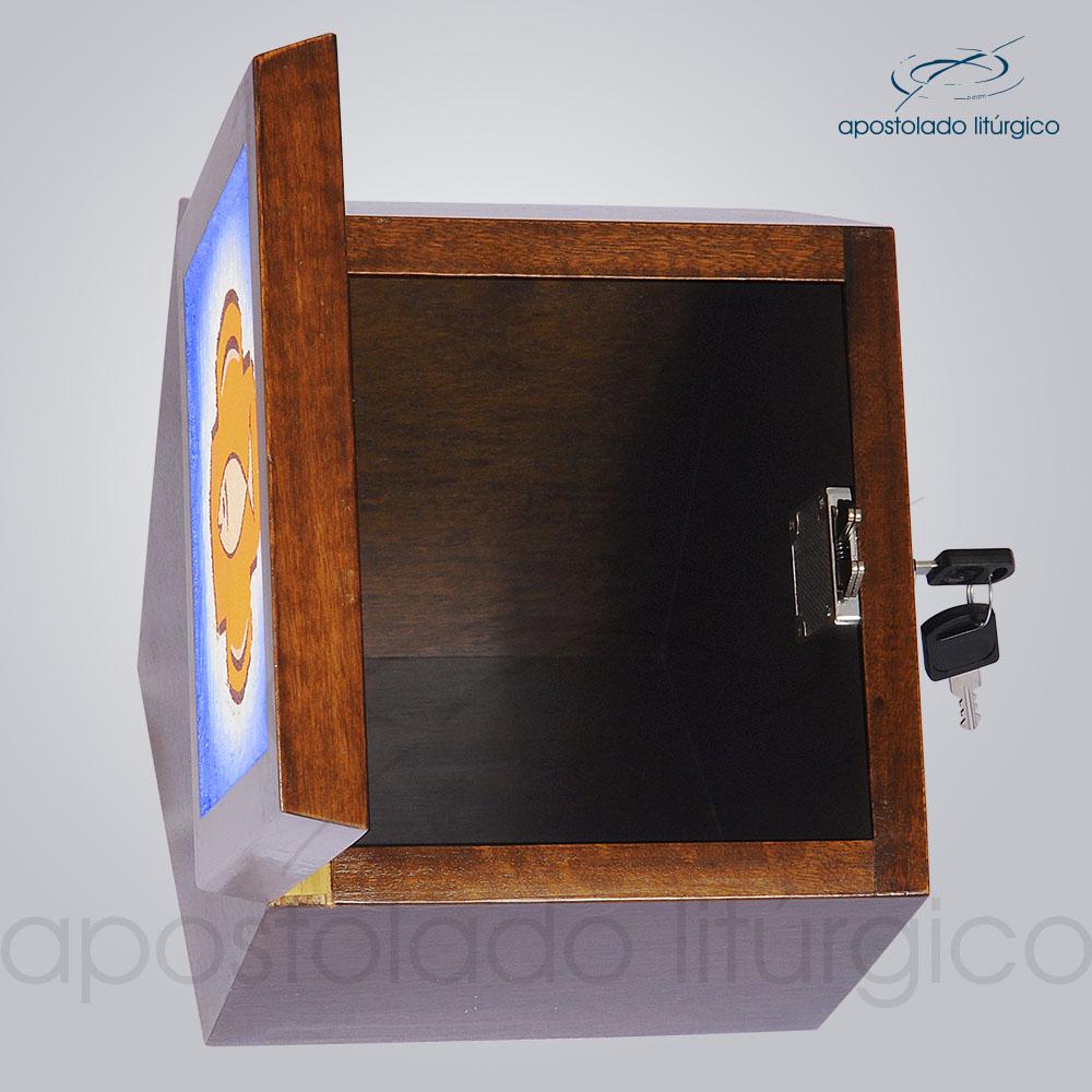 Sacrario Hexagonal 18x18x14x17x18 5cm Frente Aberta COD 4298 | Apostolado Litúrgico Brasil