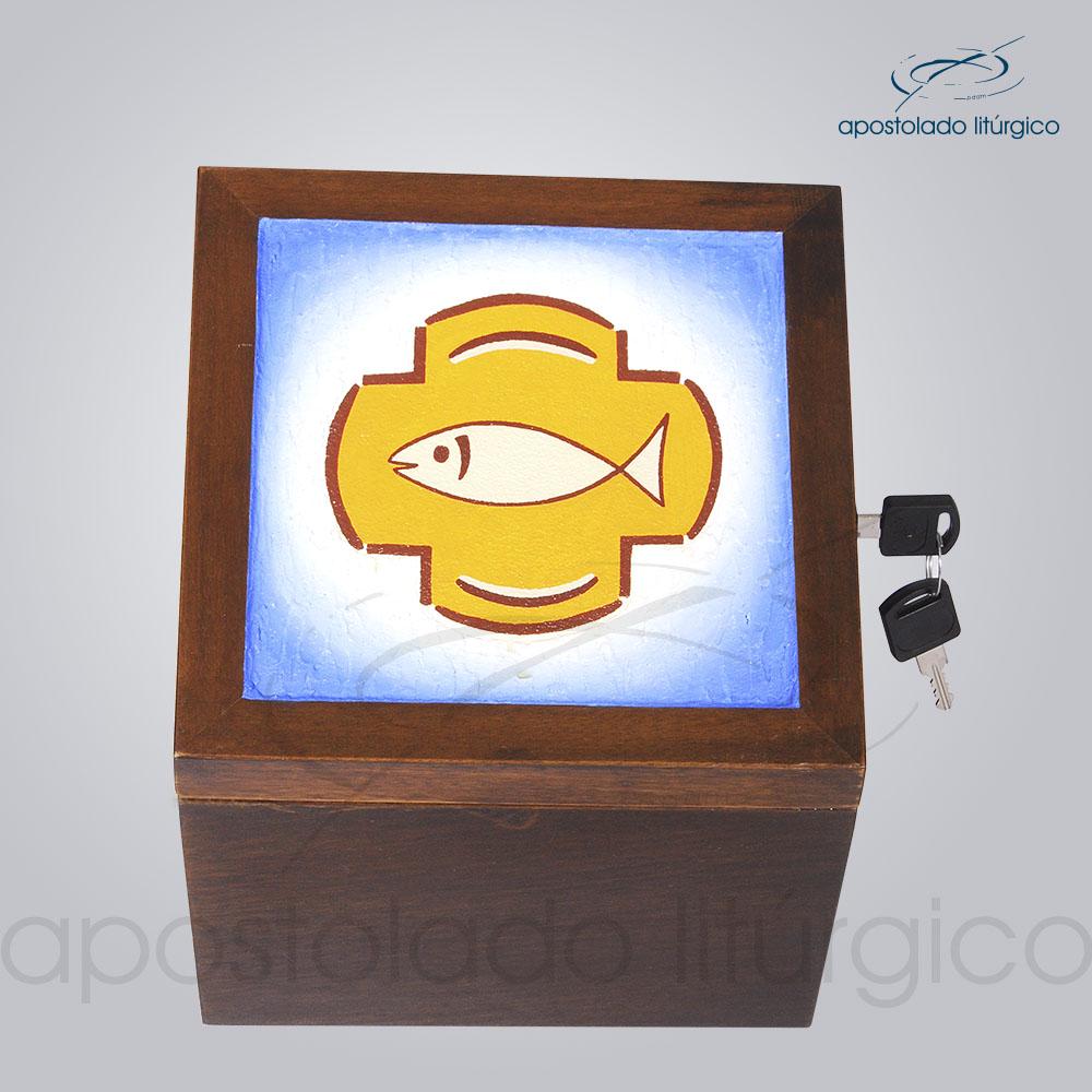 Sacrario Hexagonal 18x18x14x17x18 5cm Frente COD 4298 | Apostolado Litúrgico Brasil