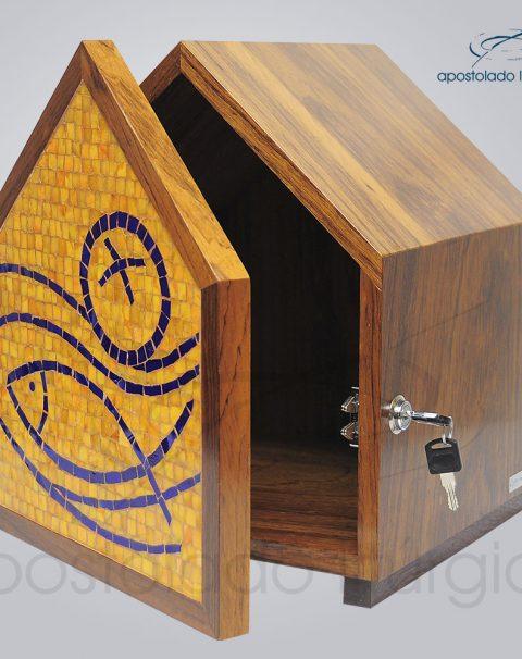 Sacrario Mosaico Casa Peixe Pao Medio 30x30x34cm Frente Aberto – COD 4195