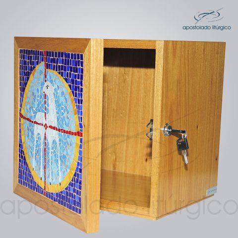 Sacrario [Mosaico Cordeiro] 30x30x26cm Frente aberto – COD 4151