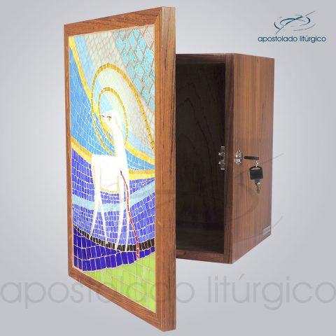 Sacrario Mosaico Cordeiro 35x25x28cm Porta 46x35cm Frente Lateral - COD 4191