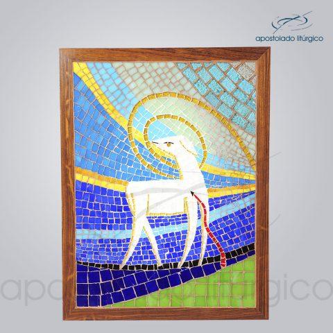 Sacrario Mosaico Cordeiro 35x25x28cm Porta 46x35cm Frente – COD 4191