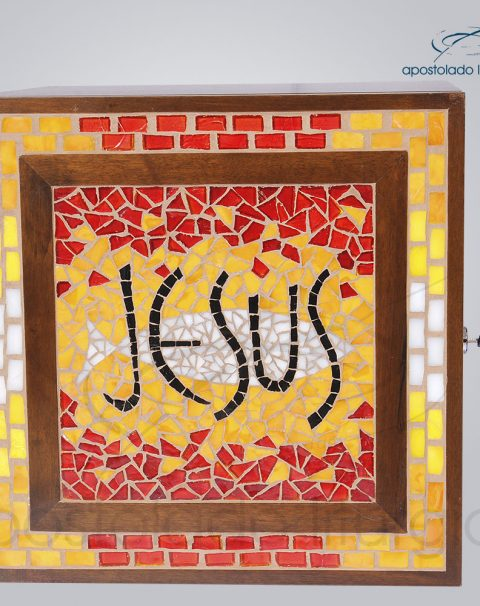 Sacrario Mosaico Jesus Medio 32x32x30cm – COD 4170