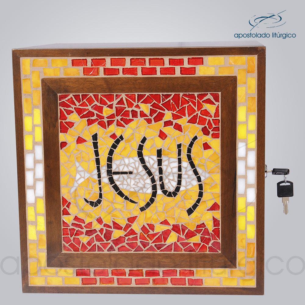 Sacrario Mosaico Jesus Medio 32x32x30cm COD 4170 | Apostolado Litúrgico Brasil