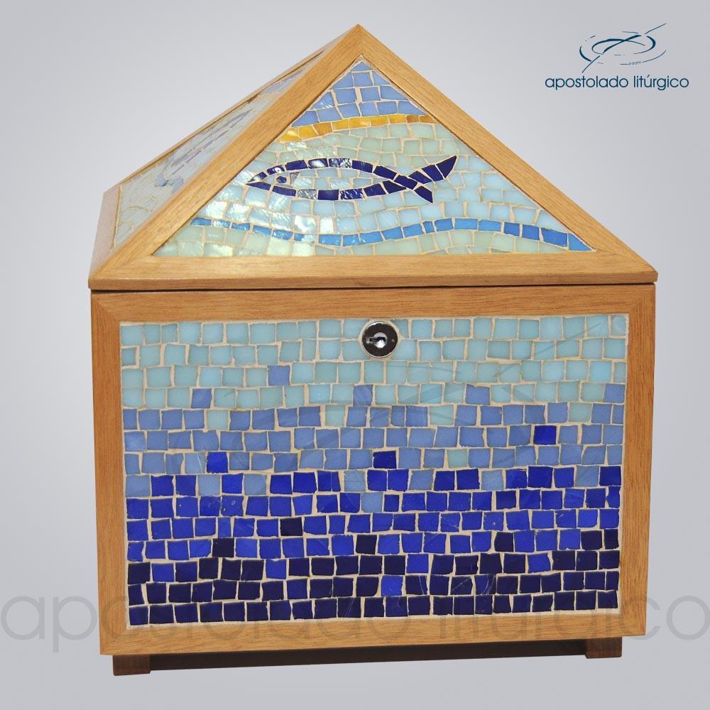Sacrario Mosaico piramide 45x25x25cm Frente COD 2107 | Apostolado Litúrgico Brasil