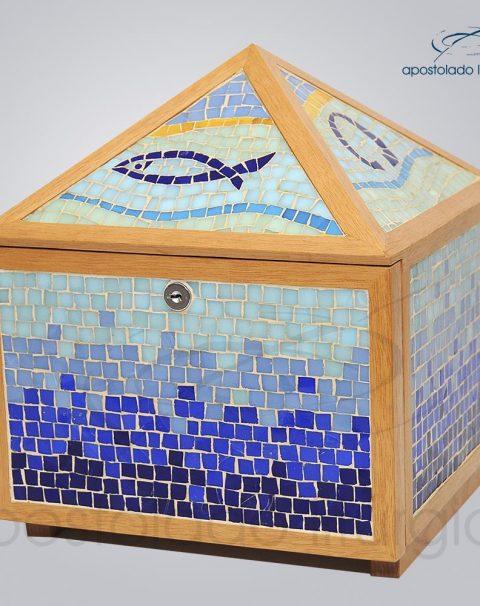 Sacrario-Mosaico-piramide-45x25x25cm-Frente-lateral-COD-2107