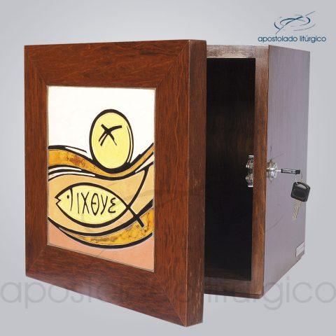 Sacrario Pao Ixoye Ceramica Vidro Medio 30x30x29cm Frente Aberto – COD 4157