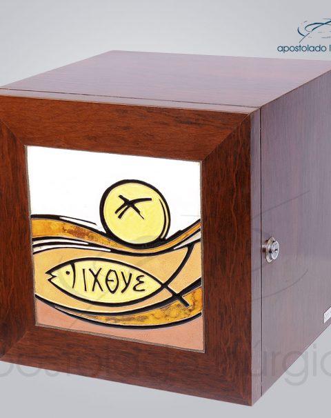 Sacrario Pao Ixoye Ceramica Vidro Medio 30x30x29cm Frente Lados- COD 4157