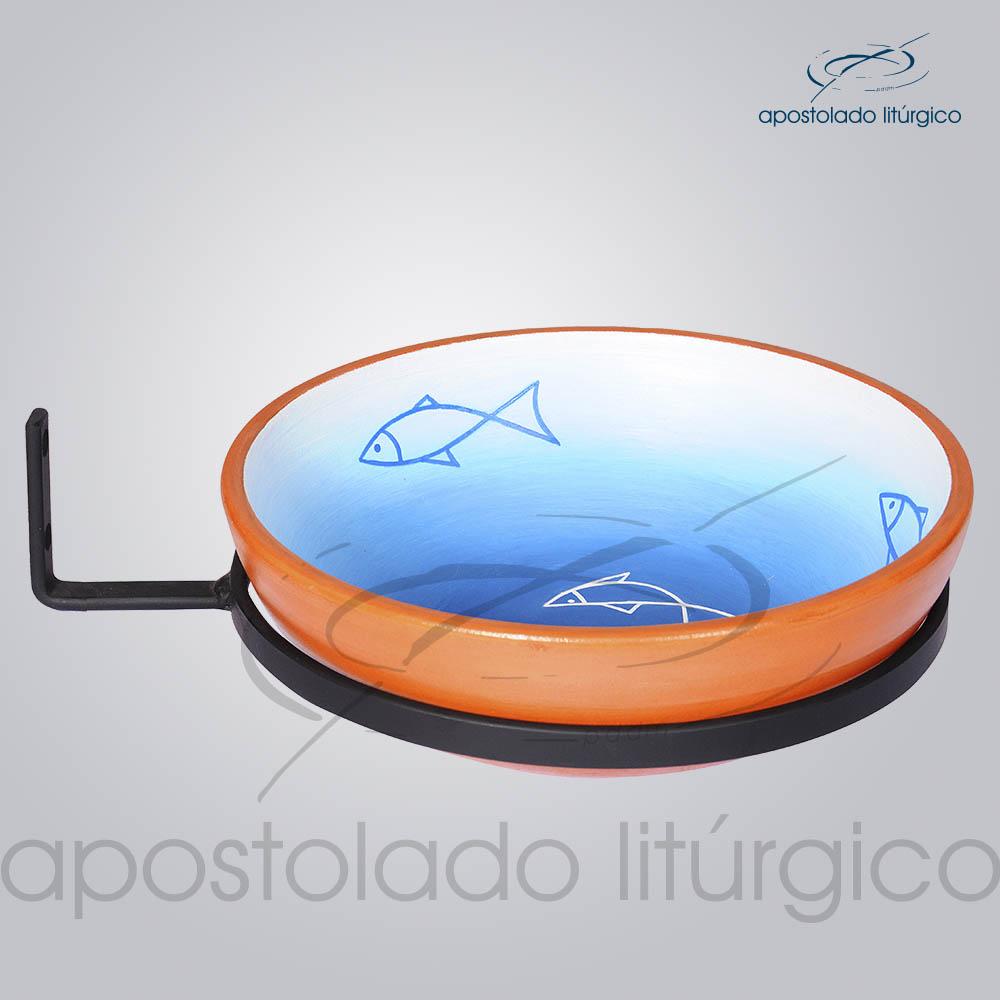 Bacia Ceramica 22cm Diametro com Aro | Apostolado Litúrgico Brasil