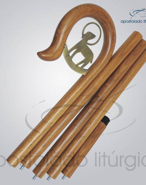 Baculo Cordeiro Madeira Clara 200cm Desmontado
