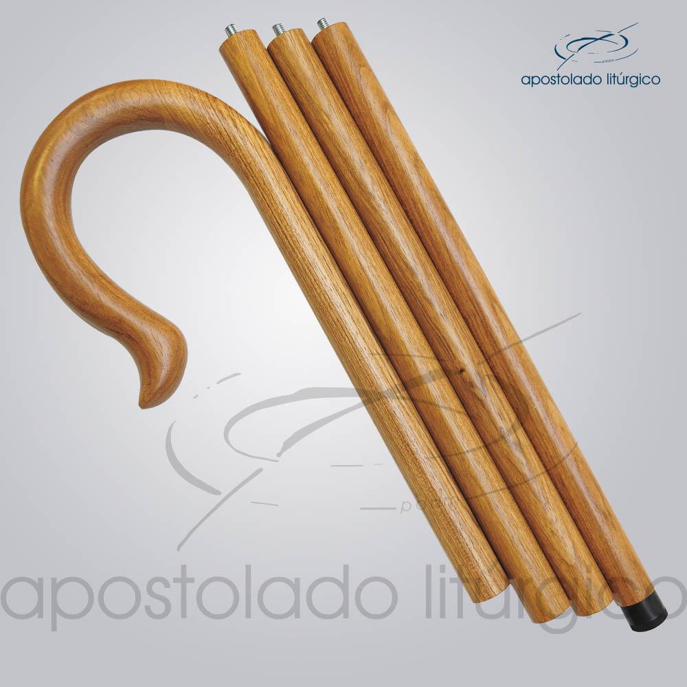 Baculo Simples Madeira Clara 180cm | Apostolado Litúrgico Brasil