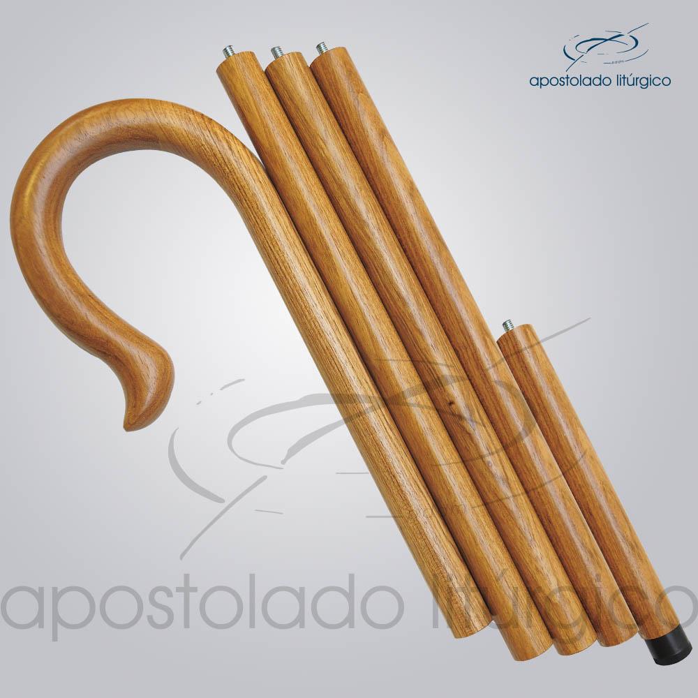 Baculo Simples Madeira Clara 200cm | Apostolado Litúrgico Brasil