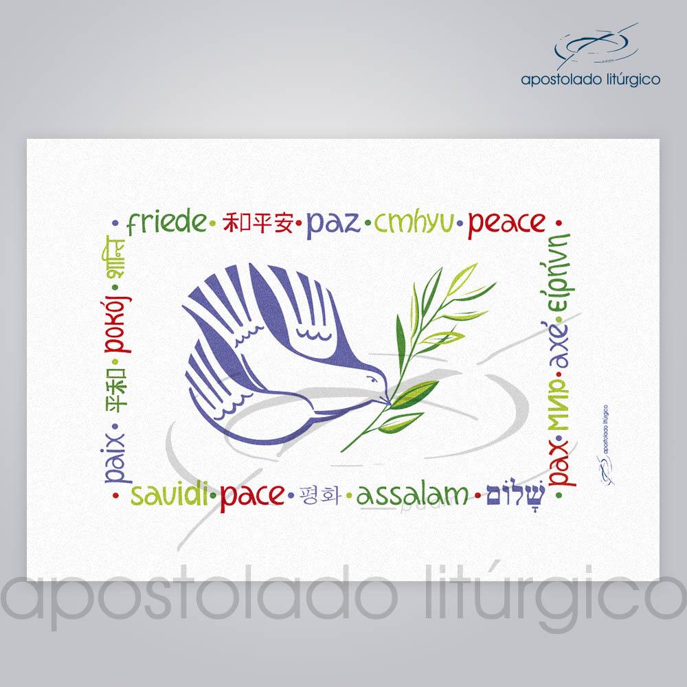 Bandeira da Paz 115x76cm Colorida | Apostolado Litúrgico Brasil