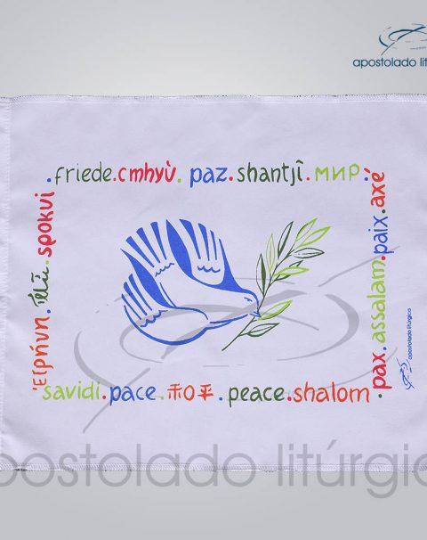 Bandeira da Paz 30x20cm Colorida