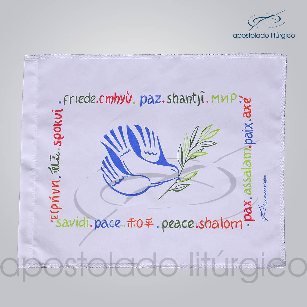 Bandeira da Paz 30x20cm Colorida | Apostolado Litúrgico Brasil