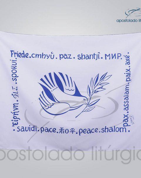 Bandeira da Paz 95x65cm Cor Unica