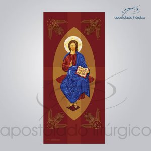 Banner Cristo Pantocrato 300x140 cm   Apostolado Litúrgico Brasil